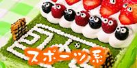 スポーツ系デコレーションケーキ